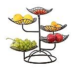 SHEDE Etagere Obst Metall Obstteller Wohnzimmer Nach Hause Obstteller 5 Schichten Lotusblatt Fashion