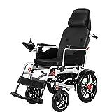 LFLLFLLFL Luxus-Elektrischer Rollstuhl, Medizinischer Rollstuhl, Hohe Rückenlehne Leistungsstarke Dualmotoren Niedriger Motor Sound 200 Kg Starkes Lasthaltiges Dickes Atmungsaktives Kissen