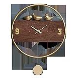 JJSPP Wanduhr Modernes Design Uhren Wohnkultur Große Pendel Kuckucksuhr Non Ticking Quiet Timer Metall Dekoration