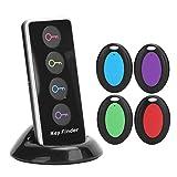 1 in 4 Schlüsselfinder/Wireless Key Finder, Kabelloser Sachenfinder Sender, mit Lautem Sound, Unterstützung für Schlüssel Hundehalsbänder Handy (4 Empfänger, 1 Sender, 1 Basis).