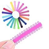 Boqi935 Zahn Ligatur Krawatte Zahnärztliche Gummiring Elastische Ligaturen Orthodontische Gummis (Mehrfarbig) 40pcs