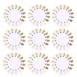 HEALLILY 20 Stücke Zähne Schatten Guide Zahn Farbtafel Tracking Vergleich Zahnarzt Material Professionelle Haushalts Mundpflege