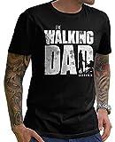 Stylotex Lustiges Herren Männer T-Shirt Basic | The Walking Dad | Geschenk für werdende Papas, Größe:M, Farbe:schwarz (4101)