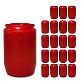 hibuy 20 x Grabkerze, Grablicht, Trauerlicht / 10 x 5 cm/rot - Kompositions-Öllicht für Grablaternen
