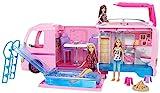 Barbie FBR34 - Super Abenteuer Camper, Puppen Camping Wohnwagen mit Zubehör, Mädchen Spielzeug ab 3 Jahren [Exklusiv bei Amazon]