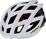 Livall Unisex– Erwachsene BH60SE Musik, Rücklicht, Blinker, Navigation, Anruffunktion und SOS-System Fahrradhelm, weiß, 55-61