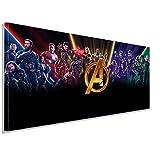 AK ART Avenger Marvel Leinwandbild Kunstdruck Wandbild Wanddeko Panorama TOP XXL (120 x 50 cm)