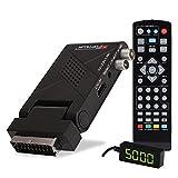 RED OPTICUM AX Lion 5 AIR DVB-T2 H.265 Receiver mit Aufnahmefunktion - externer IR Sensor mit LED Display - HDMI/SCART - USB 2.0 I 12V Netzteil ideal für Camping, 23026