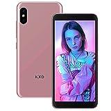KXD 6A Smartphone ohne Vertrag 3G Entsperrtes Handy Dual SIM Android 5.5 Zoll Vollbild 5MP Kameras, Gesichtsentsperrung, 3 in 1 Kartensteckplätze Smart Phone, Roségold