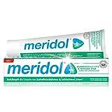 meridol Zahnpasta Zahnfleischschutz & frischer Atem 75 ml - Zahncreme bekämpft die Ursache von Zahnfleischbluten und von Mundgeruch, antibakterieller Effekt