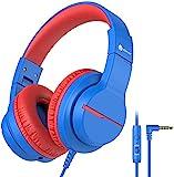 Kinder kopfhörer, Kabel Kopfhörer für Kinder über Ohr, HD Stereokopfhörer mit Mikrofon, Lautstärkenbegrenzer 85/94dB, Sharing-Funktion, Faltbarer Kopfhörer für Schule, Travel