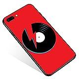 Schutzhülle für iPhone 8, rote Vinyl-Schallplatten, iPhone 7, iPhone SE 2020, Hüllen für Jungen und Mädchen, Muster, Grafik-Design, stoßfest, rutschfeste Hülle für Apple iPhone 8/7/SE2