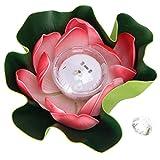 UPKOCH LED Schwimmlaterne Solarbetriebene Wasserlaterne Lotus Laterne Künstliche Lotusblüte Seerose Laterne für Garten Pool Teich Hochzeit Geburtstag Party Dekoration Zufällige Farbe