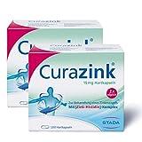 Curazink 2x Hartkapseln - Arzneimittel zur Anwendung eines klinisch gesicherten Zinkmangels - hoch dosiert mit 15 mg Zink im einzigartigen Zink-Histidin-Komplex - 2 x 100 Hartkapseln