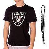 New Era NFL Shirts - Football Team Shirt - alle Teams inkl. New Era Schlüsselanhänger (Las Vegas Raiders - Black, L)