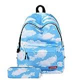 ZBK Starry Sky Serie Schulranzen-Set für Mädchen, Laptop-Rucksack mit Federmäppchen für Damen, 6 Farben
