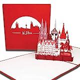 """Pop-Up Karte 'Köln – Skyline mit Kölner Dom"""" 3D Karte mit Umschlag, Grußkarte, Geburtstagskarte, Einladung und Reisegutschein"""