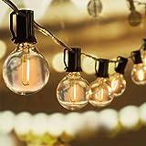 WOWDSGN 30+3 Stk. G40 Glühbirnen Lichterkette Außen, LED Glühlampen Lichterkette für Innen und Außen, Strombetrieben, Wasserdicht, keine Kitze, ideal für Weihnachtsdeko, Hochzeit, Party usw