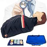 EnweMahi CPR Wiederbelebungspuppe,Trainingspuppe Herz Lungen Reanimation,HLW Medizinische Modell, Reanimationspuppe für Erste Hilfe Training (Halbe Länge),B