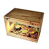 Reptilien Holz Terrarium, Schildkröte Gecko Eidechse Igel Isolierbox Belüftung Umweltschutz Pet Nest Aufzucht Larve Vivarium (Size : 40 * 30 * 30CM)