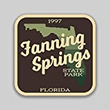 Lplpol Lustiger Vinyl-Aufkleber, 10,2 cm, Motiv: Fanning Springs State Park Florida, Aufkleber (2 Stück) für Laptop, Wasserflasche, Handy,