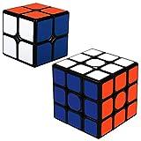Maomaoyu Zauberwürfel Cube Set 2 Stück,Speed 2x2 3x3 Zauberwürfeln