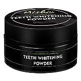 LUSHAasd Kokosnussschalen-Aktivkohle-Zahnpulver zum Aufhellen der Zähne, Zahnpasta-Pulver Zahnaufheller Spearmint-Geschmack (50 g)