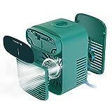 Mini Mobil Klimaanlage,Tragbarer Klimaanlagenlüfter mit 3-Geschwindigkeits-Wind-Modus,Nebelsprühfunktion,Mobiles Klimagerät leise für Wohnung Büro,kabelloser klimaanlage-lüfter,Grosse Kapazität (Grün)