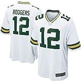 THDB Outdoor American Football T-Shirts #12 Jugend Game Jersey Wiederholbares Reinigungstraining Shirt für Jungen - Weiß Gr. XL, weiß
