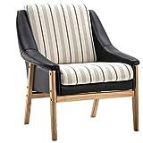 YANGDONG Einfache Beiläufige Sitzgelegenheiten, PP-Ledersofa, Single-Sofa-Sitz, Zwei Verschiedene Arten, Moderne Lässige Haushaltsmöbel (Color : Black Stripes)