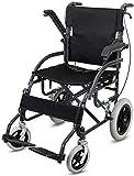 Wohnausrüstung Stahlrollstuhl Leichter Faltbarer Rollstuhl mit Vollreifen Klappgröße 80 * 76 * 26 cm Schwarz Geeignet für Senioren und Menschen in Not
