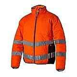 Top Swede 12802102508 Modell 128 Hi-Vis Quilt-Lined Warnschutz Jacke, Orange/Schwarz, Größe XXL