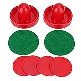 DAUERHAFT Leichtes, hochwertiges Eishockey-Drücker-Pucks-Set für Tischspiele mit 2 Drückern mit 4 Pucks(Small 60mm)