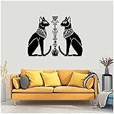 WYLYSD Altes Ägypten Gott Ägyptische Katzen Bastet Wandaufkleber Für Zuhause Wohnzimmer Schlafzimmer Dekor Aufkleber Wandtattoo 57X60C
