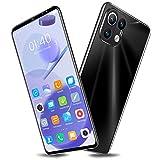 GAOword M12 Pro 6,1-Zoll-Bildschirm Günstiges Smartphone 12GB + 512GB RAM 32 + 64MP 6000Mah Akku Gesichtserkennung Dual-SIM,Schwarz