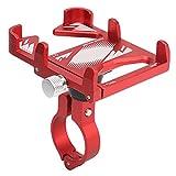 Keenso Fahrradtelefonhalterung, Fahrrad 360 ° Verstellbarer Telefonhalter Motorrad-Telefonklemme GPS-Halter für 22,2 Mm-31,8 Mm Lenker(rot)