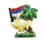3D-Kühlschrankmagnet, Mauritius, Reise-Souvenir, Geschenk, Kunstharz, Bastel-Kollektion