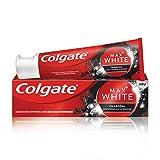 Colgate Zahnpasta Max White Charcoal, 75ml - Zahncreme mit Aktivkohle, entfernt bis zu 100% der oberflächlichen Verfärbungen