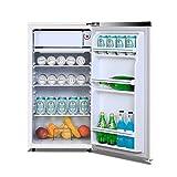 FRIDGE 72L Klein Kühlschrank Mini Kühlschrank Eine Wichtige Abtauung 8L Gefrierschrank 64L Kühlraum Einstellbarer Thermostat Freistehende Kühlschrank 70CM Weiß Rot