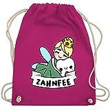 Shirtracer Karneval & Fasching - Zahnfee Kostüm - Unisize - Fuchsia - fee kostüm - WM110 - Turnbeutel und Stoffbeutel aus Baumwolle