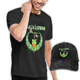 T-Shirt Denim Baseballmütze Cowboyhut Das Acacia Strain Herren Kurzarm Baumwolltop mit Cowboyhut Casual Set