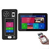 WIFI Wlan Video-Türsprechanlage, Video-Türklingel-Gegensprechanlage, 1080P-Kamera + 9-Zoll-Monitor, Fingerabdruck-Gesichtserkennung APP Unlock