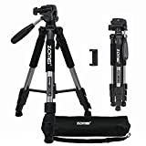 ZOMEI Pro Tragbare Kompaktkamera Das Stativ mit Pan Head Quick-Release für Digitale Kamera Stativ Q111 Max Height: 140CM(Silber)