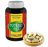 VITAIDEAL ® POTENZHOLZ (Muira puama, Ptychopetalum Olacoides) 90 Kapseln je 450mg, aus rein natürlichen Kräutern, ohne Zusatzstoffe von NEZ-Disk