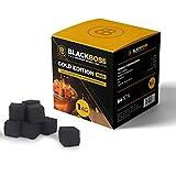 BlackBoss - 1 KG Shisha Kohle Kokusnuss Naturkohle, Coal Briketts für Shisha Wasserpfeife mit Langer Brenndauer in Würfel F