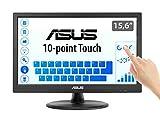 Asus VT168N 39,6 cm (15,6 Zoll) Monitor (VGA, DVI, 10ms Reaktionszeit, Touch) schw