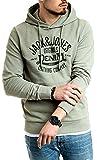 Jack and Jones Pullover Herren Hoodie mit Kapuze für Männer Kapuzenpullover Pulli (Sea Spray 199, XXL)