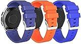 Classicase kompatibel mit Honor MagicWatch2 46mm / Watch GS PRO/Magicwatch Soft Silikon Classic Ersatz Uhrenarmbänder (22mm, 3-Pack H)