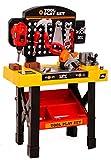 2-5Tage Liefer,Kids Workbench Werkzeugset,Werkbank Kinder,Stück Werkzeugbank Kinder mit Werkstatt und Werkzeug Carrycase Spielset Mechaniker BaukästenWerkbank mit Klapp-Design beinhaltet,ab 3 Jahre