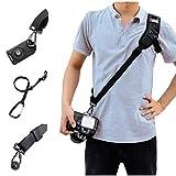 Kameragurt Schnellverschluss Neopren Schwarz Kamera Tragegurt Schultergurt Gurt für Canon Nikon Sony Fujifilm Olympus DSLR SLR